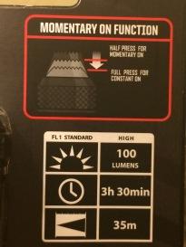 Bushnell Pro 100 Lumens 2
