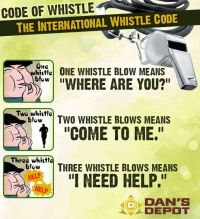 Emergency Whistle Codes