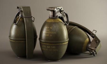 M-26 hand grenades