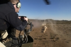 Dillon M134-D Minigun Fired From Helicopter