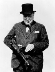 Winston chruchill Tommy Gun