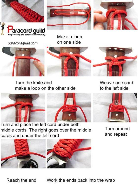 Paracord Knife Handle Wrap