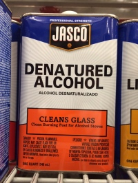 Denatured Alcohol For Alcohol Stoves