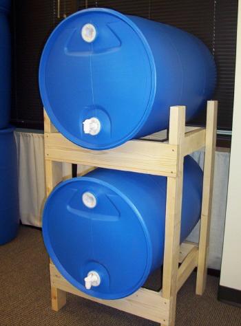 55 gallon water barrels - Water Storage Barrels