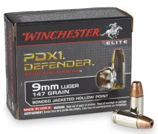 Winchester PDX1 Defender 9mm 147 Grain Bonded JHP