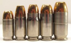 .380 ACP, 9mm, .357 Sig, .40 S&W, .45 ACP Comparison