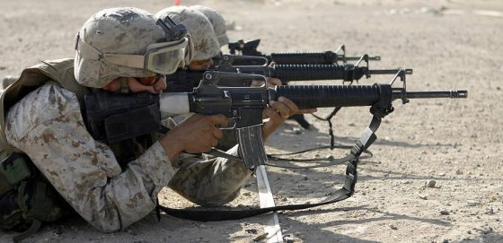 marine-fires-their-m16a2-service-rifles-stocktrek-images