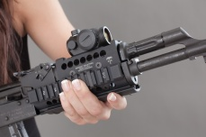 midwest industries ak-47 railed forend with aimpoint MRDS