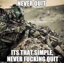 never quit meme