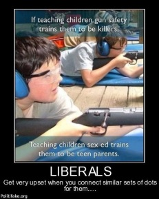 teaching children to shoot meme