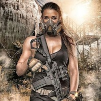 hot girl ar15